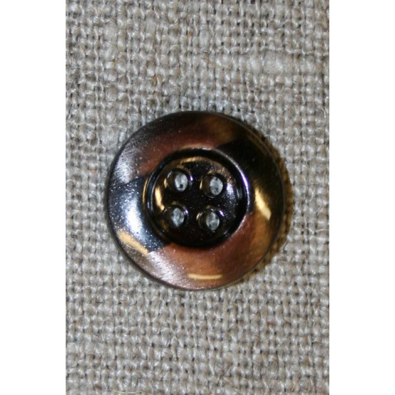 4-huls knap kobber/gun-metal, 15 mm.-35
