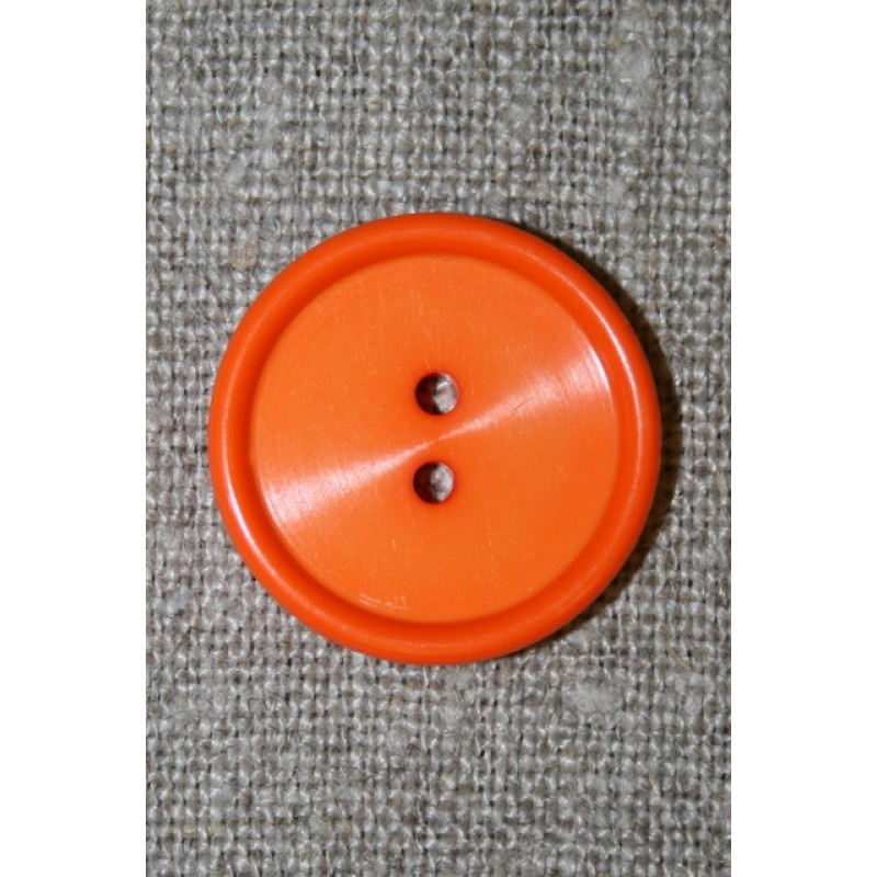 Orange 2-huls knap, 22 mm.-05