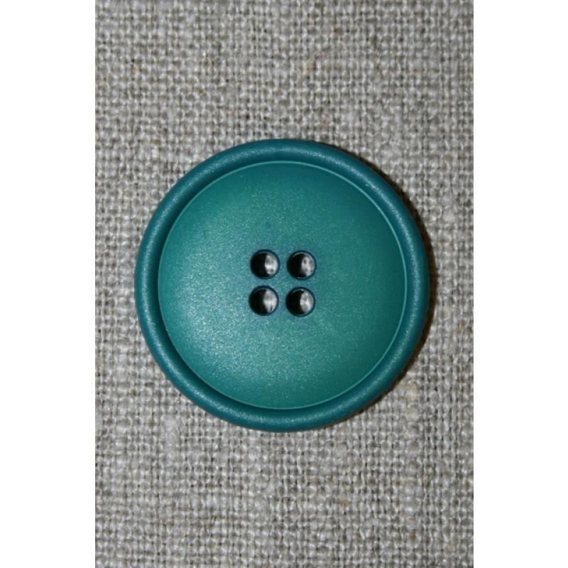 4-huls knap petrol, 28 mm.