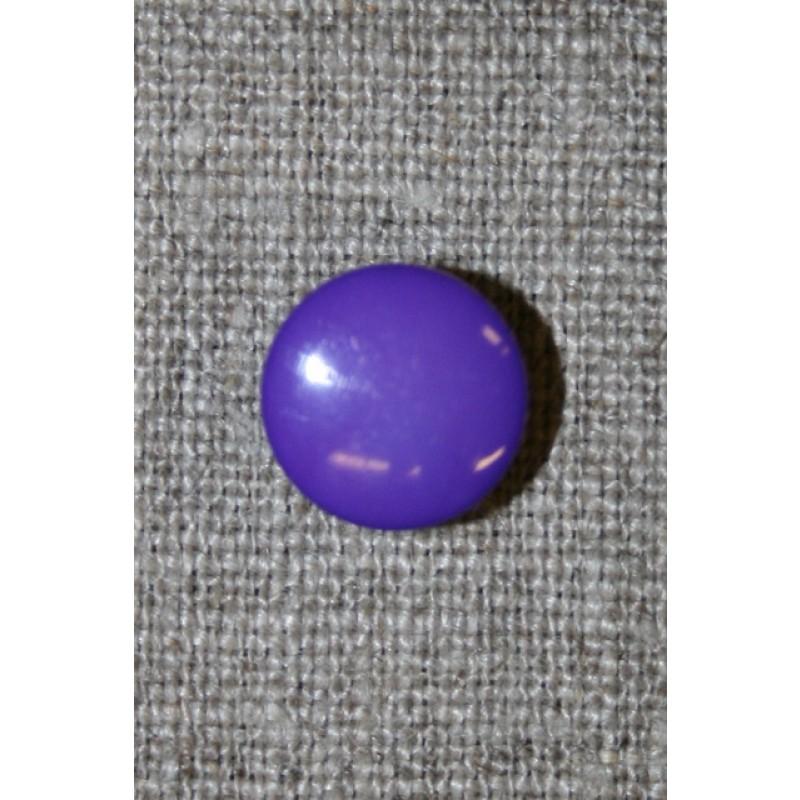 Rund knap lilla, 12 mm.