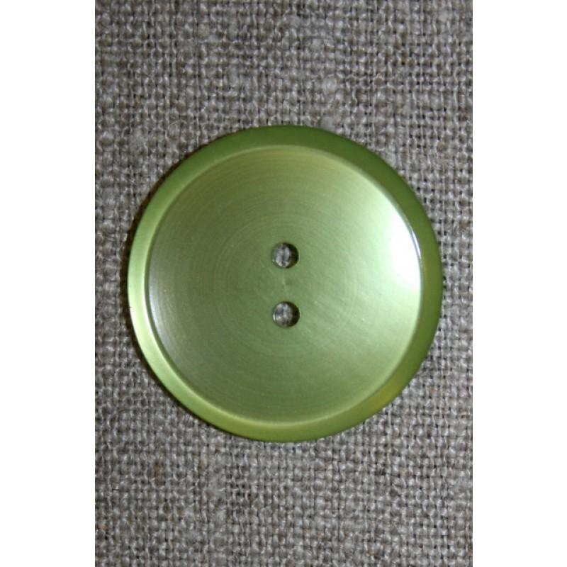 Blank 2-huls knap, 28 mm. lime-35