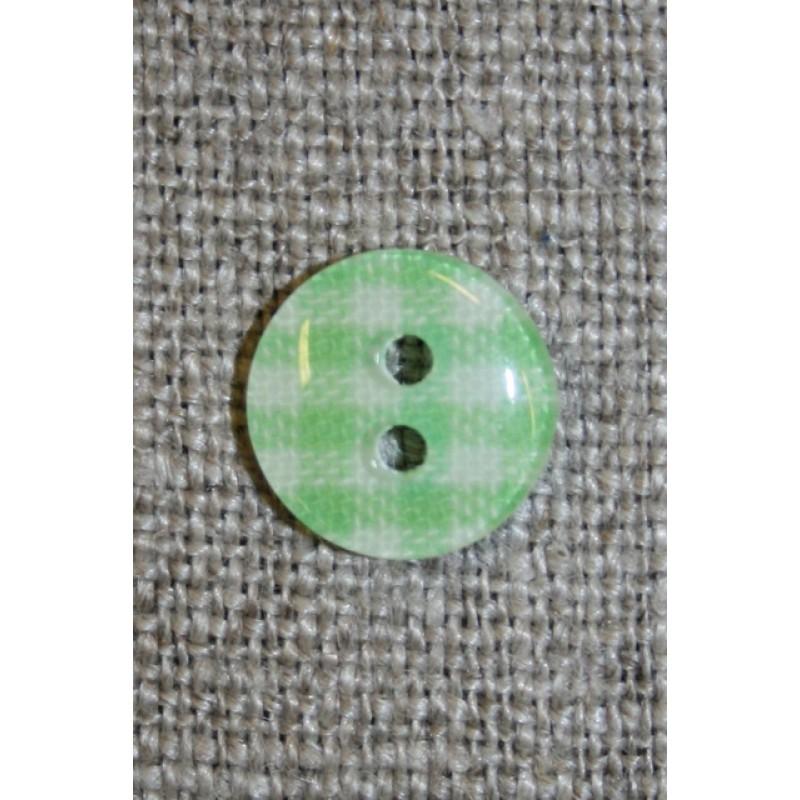 Ternet 2-huls knap lime/hvid, 11 mm.