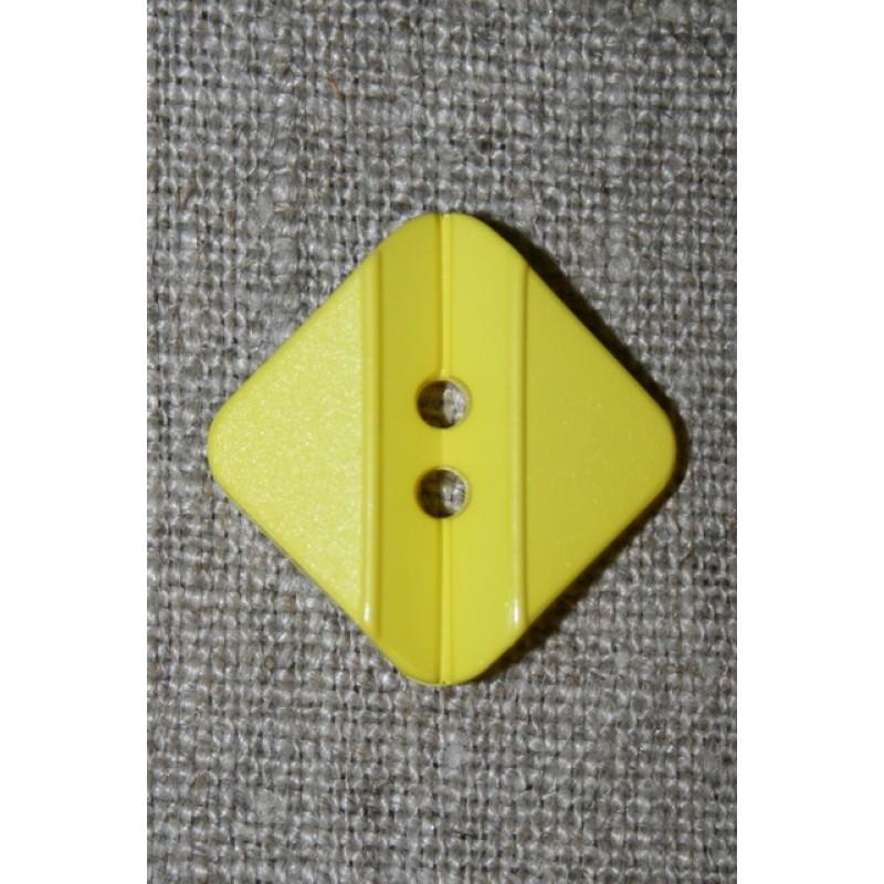 Firkantet gul knap, 23 mm.-35