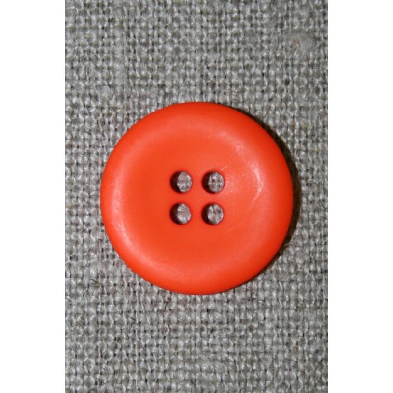 Orange 4-huls knap, 20 mm.