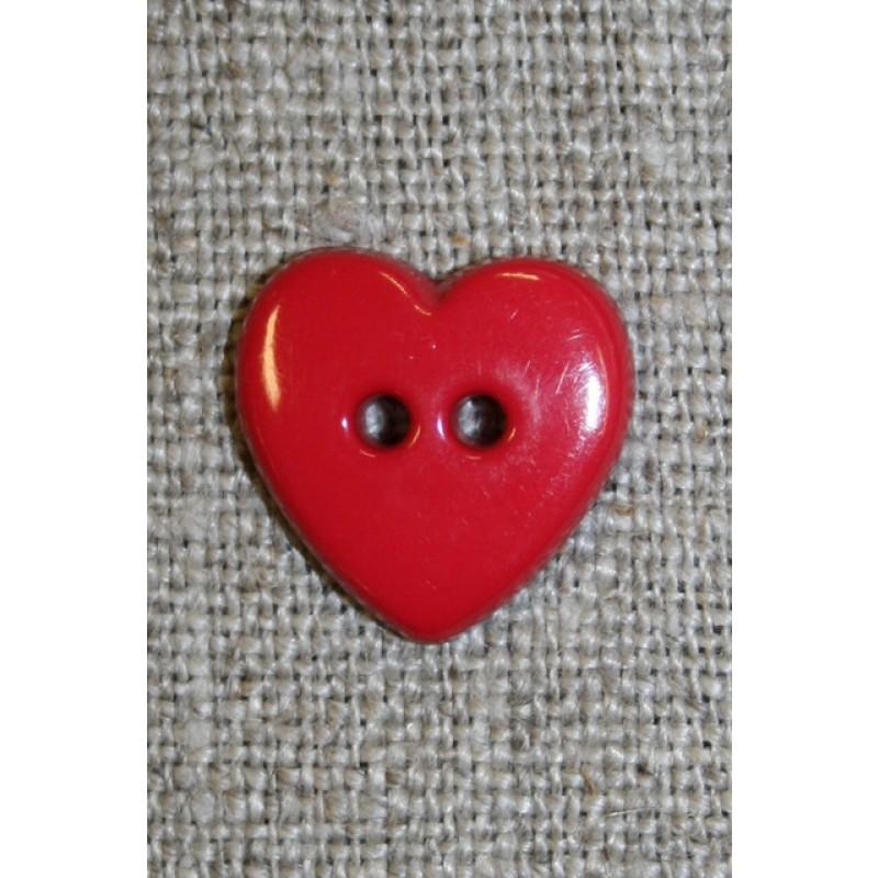 Hjerte knap rød-35