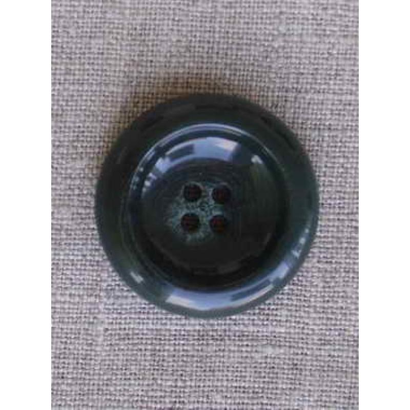 Flaskegrøn knap 32 mm
