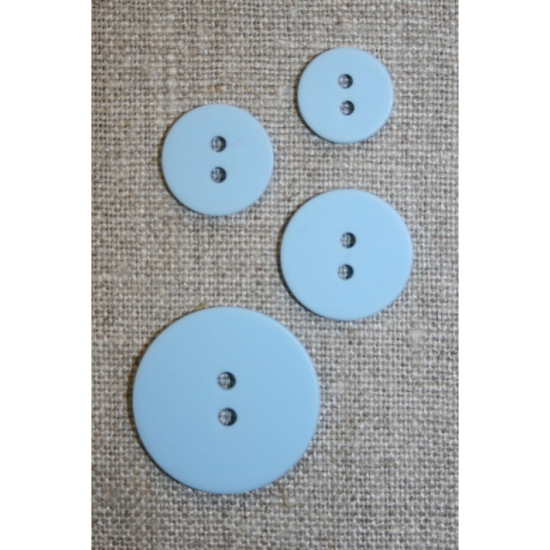 2-huls knap lyseblå 13 mm.-35