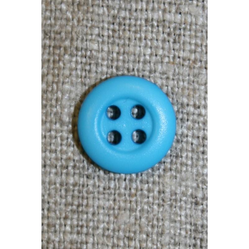 Lille turkis 4-huls knap, 11 mm.-35
