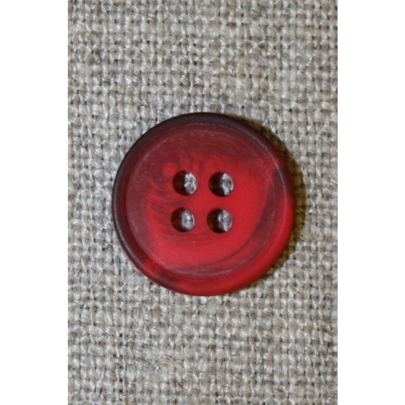 4-huls knap meleret rød/mørkerød, 15 mm.-31