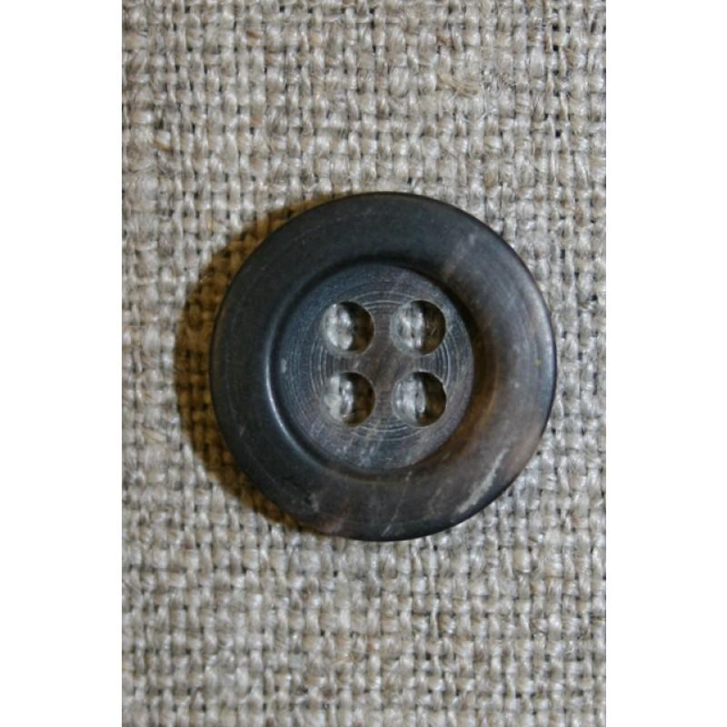 4-huls knap brun/sort, 15 mm.-35