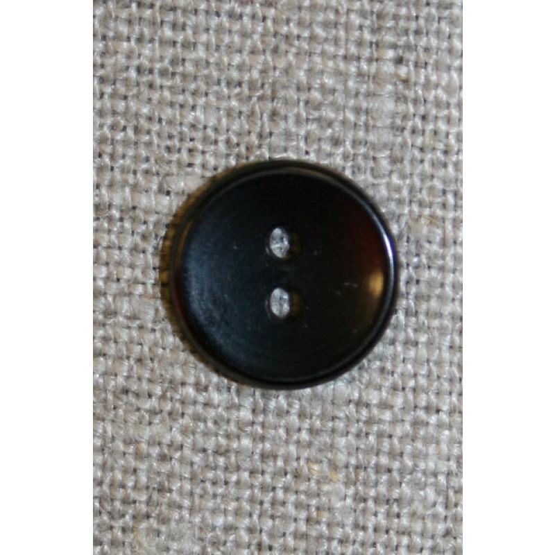 2-huls knap sort, 13 mm.-33