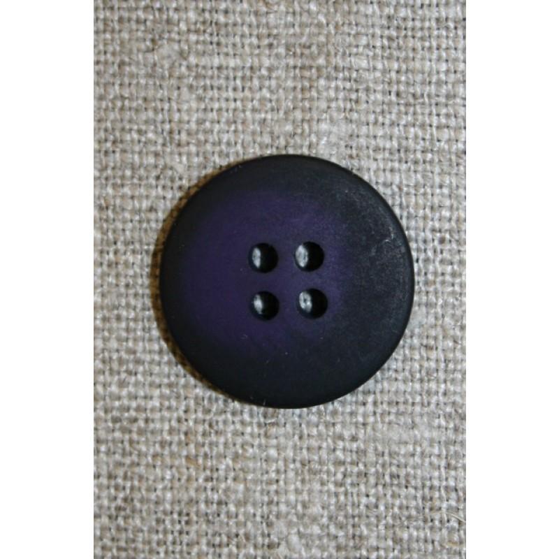 Mørkelilla 4-huls knap, 20 mm.