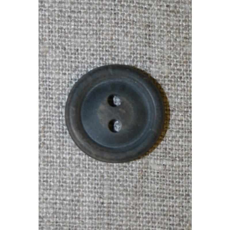 Brun meleret 2-huls knap m/kant, 20 mm.-31