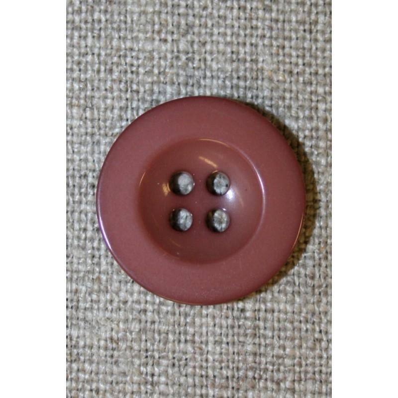 Pudder-brun 4-huls knap, 20 mm.