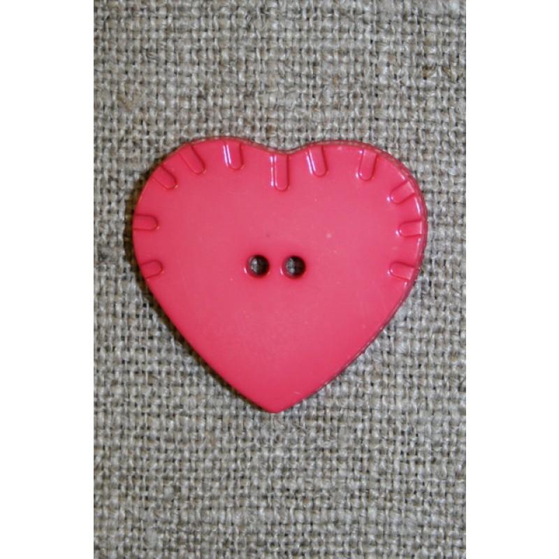 Melon hjerte-knap, 24 mm.-35