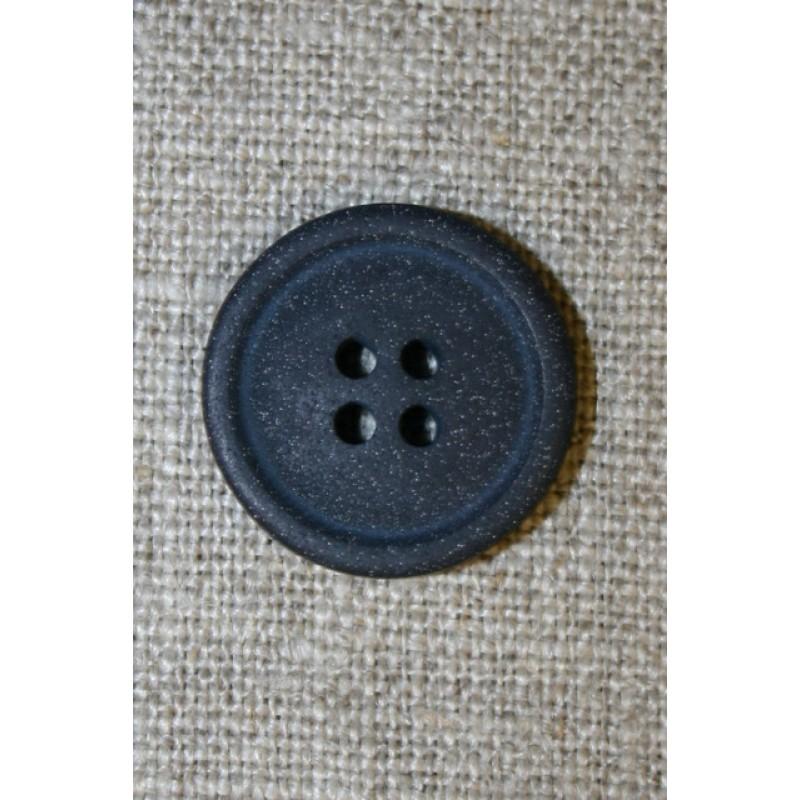 4-huls knap mørkeblå granit-look, 20 mm.-35