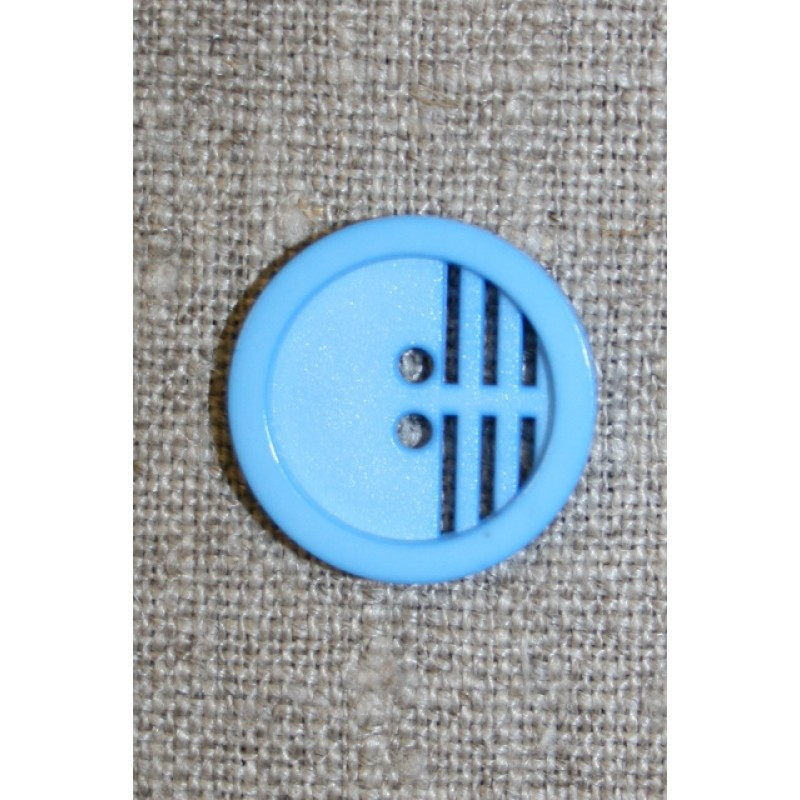 2-huls knap m/riller, lys blå-35