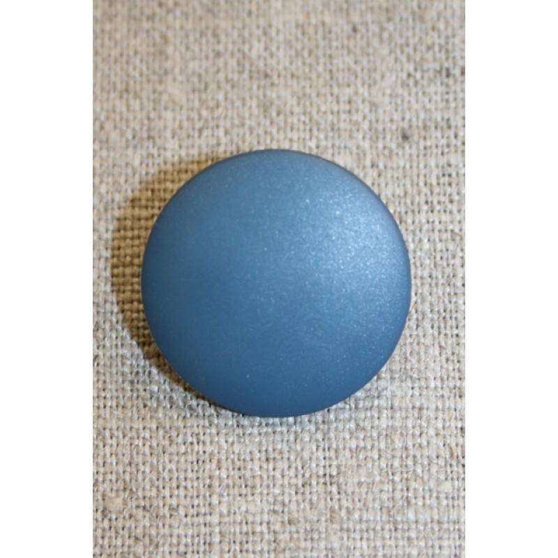 Denim-blå rund knap, 25 mm.