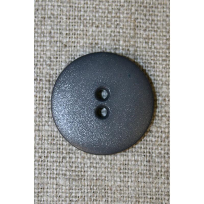Mørkegrå 2-huls knap, 22 mm.-31