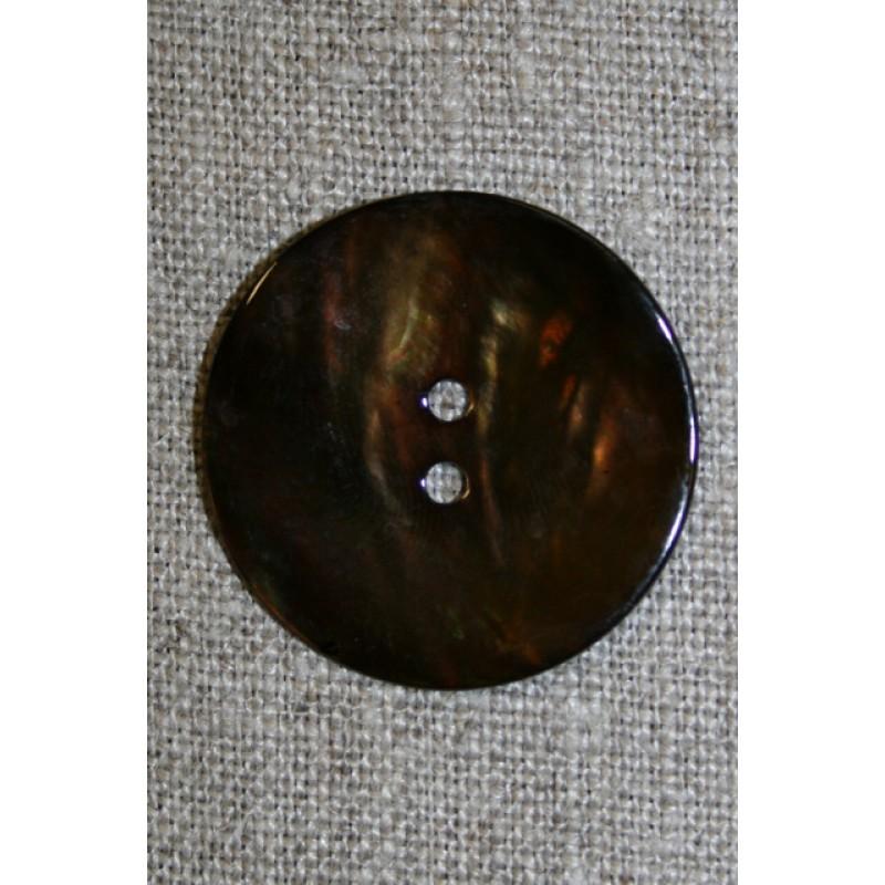 Perlemors-knap brun, 30 mm.-35