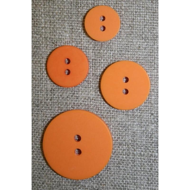 Orange 2-huls knap, 25 mm