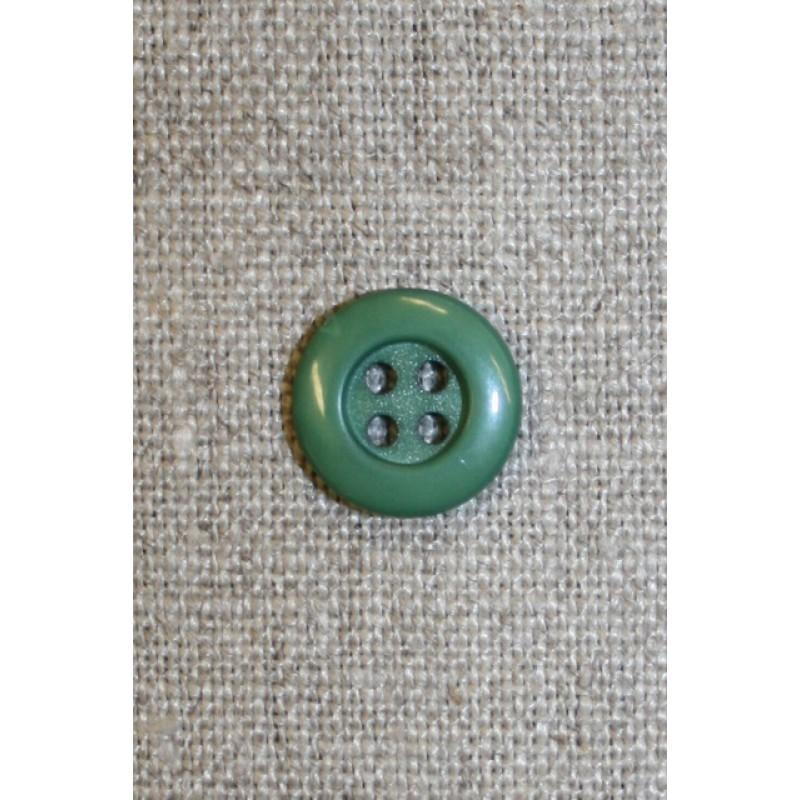 4-huls knap støvet grøn, 13 mm.-31