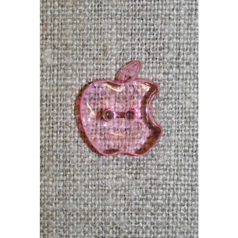 Knap m/æble, lyserød-33