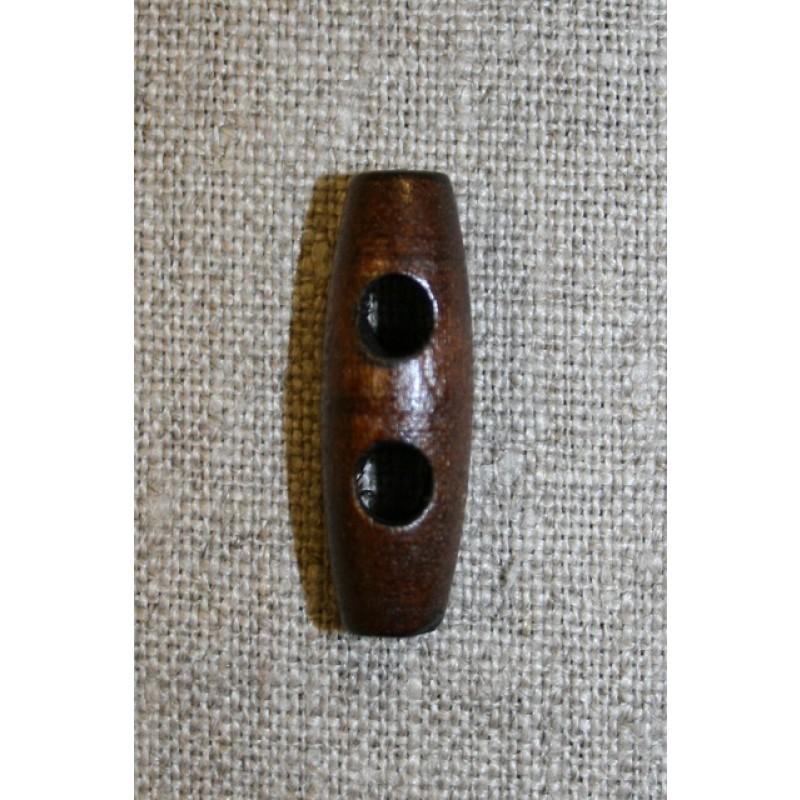 Aflang træknap/knebel 30 mm. mørk-31