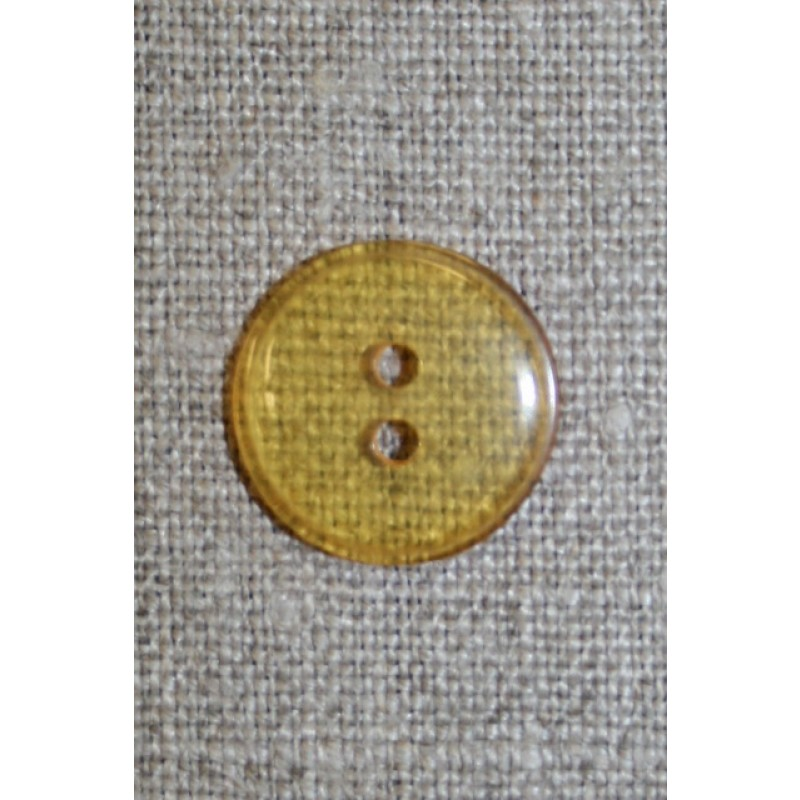 Klar orange/gul 4-huls knap, 18 mm.