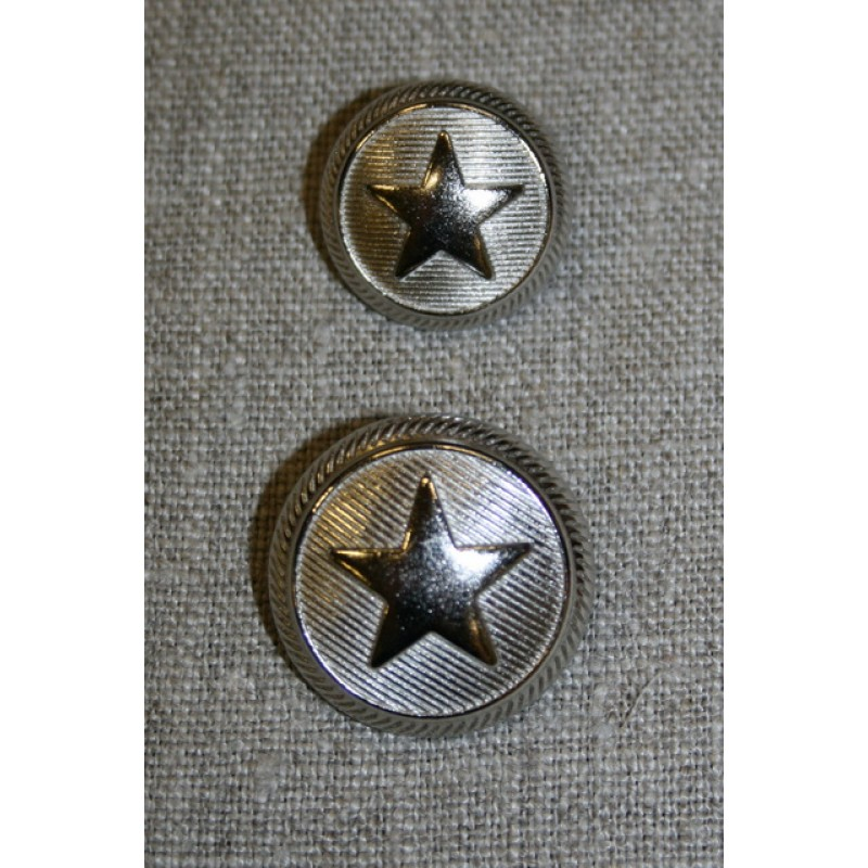 Uniforms-knap m/stjerne sølv, 20 mm.-33