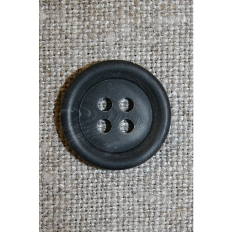 4-huls knap koksgrå-meleret, 17 mm.-33