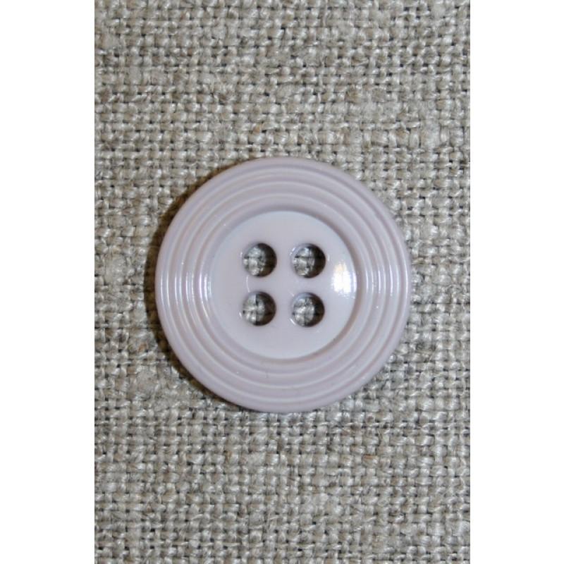4-huls knap m/kant lysegrå 18 mm.