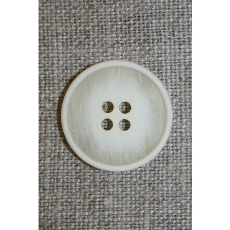 4-huls knap off-white meleret 22 mm.-33