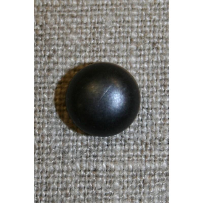 Rund knap, 11 mm. sort blank-31