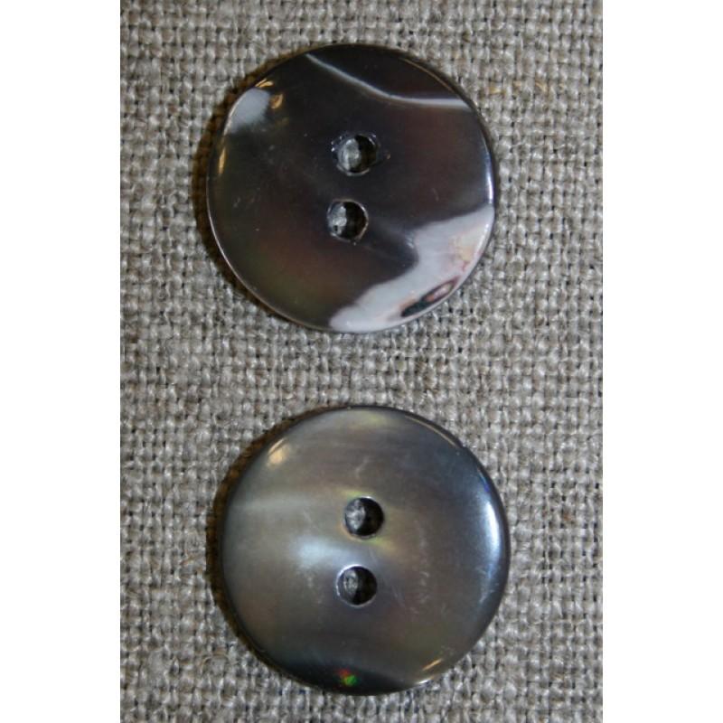 Perlemors-knap brun, 17 mm.-33