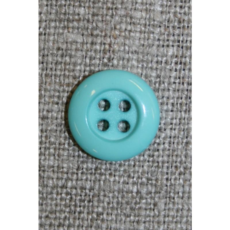 4-huls knap 12 mm, aqua/lysegrøn