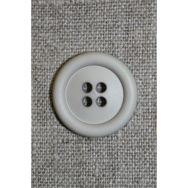 Lys grå/kit 4-huls knap, 22 mm.