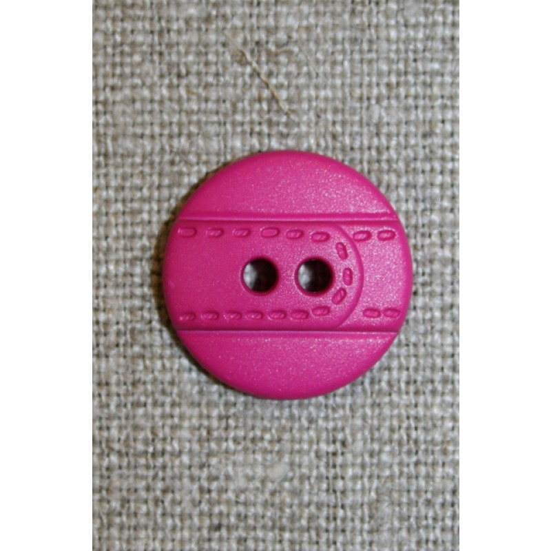Pink knap m/bælte-look, 18 mm.
