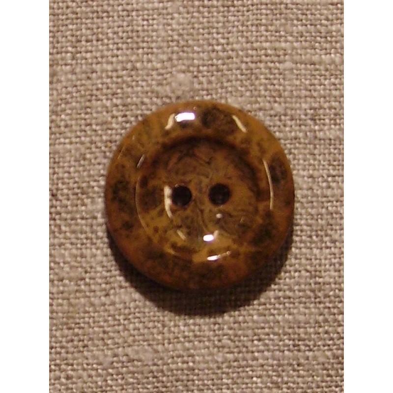 Camel/brun meleret knap-31