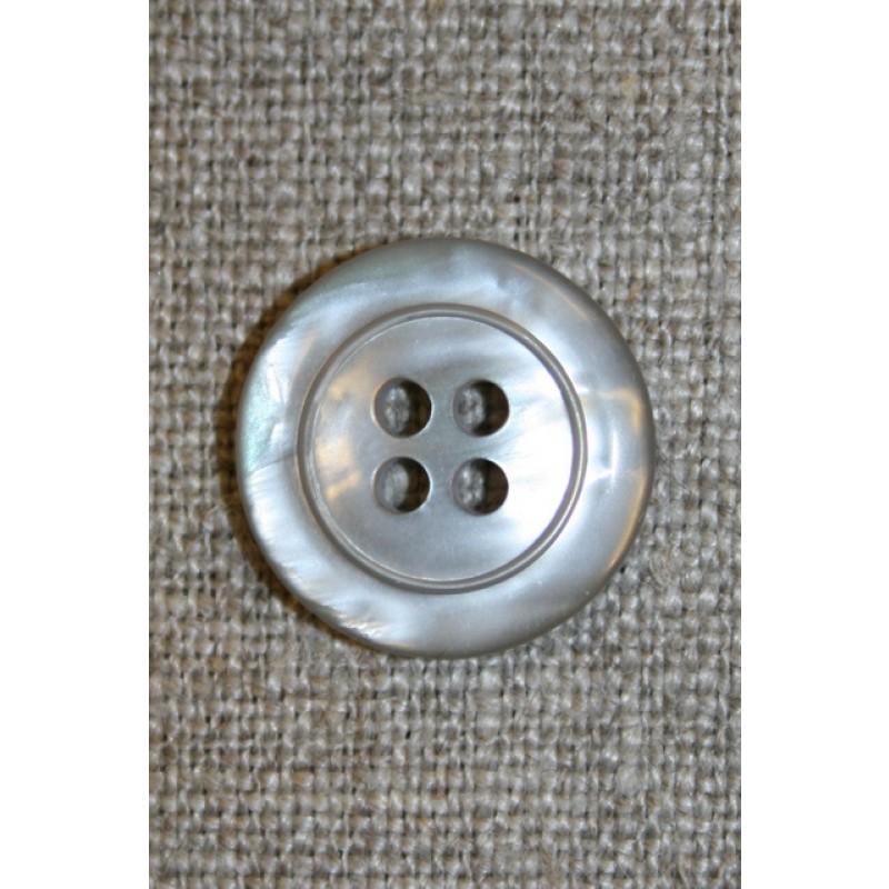 Sand blank 4-huls-knap, 18 mm.