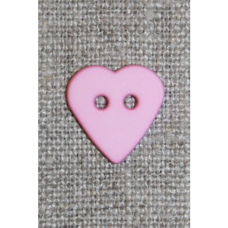 Mat Hjerte knap lyserød-33