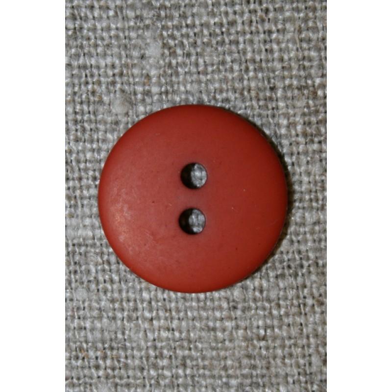 Brændt orange 2-huls knap, 18 mm.-33