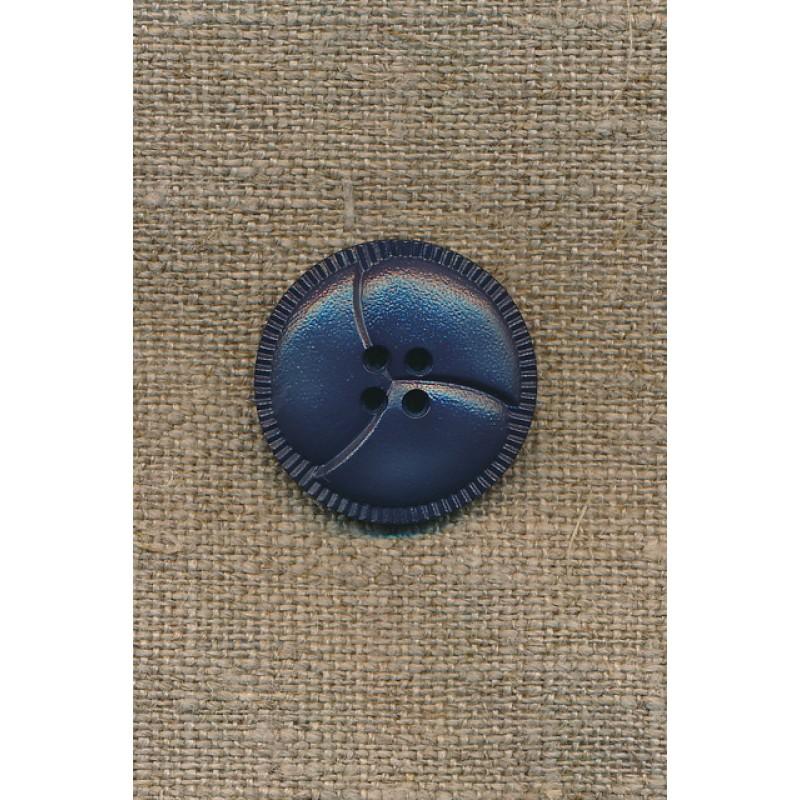 4-huls knap støvet blå 3-delt, 25 mm.-33