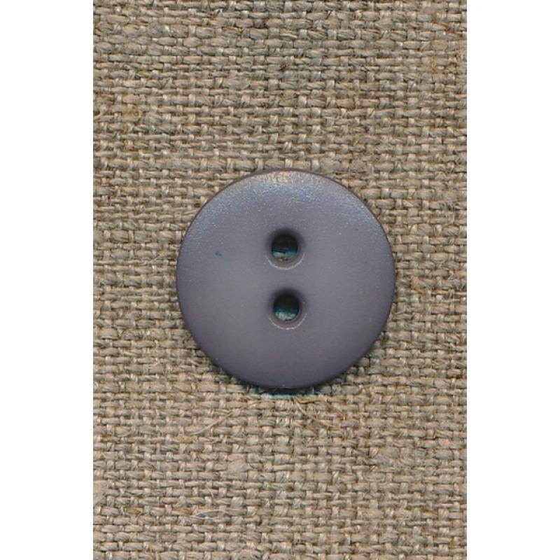 2-huls knap grå, 18 mm.-31