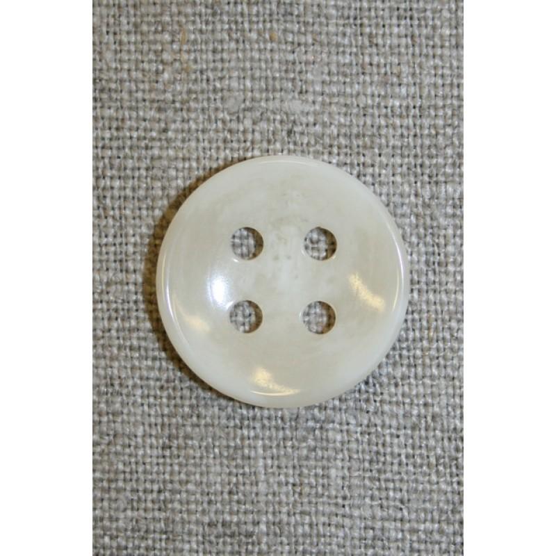 Off-white meleret 4-huls knap, 22 mm.-33
