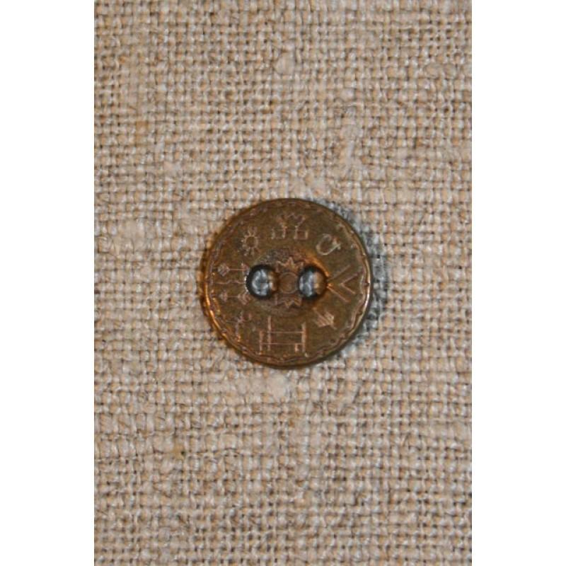 Knap gl.guld m/hieroglyffer, 12 mm.-31