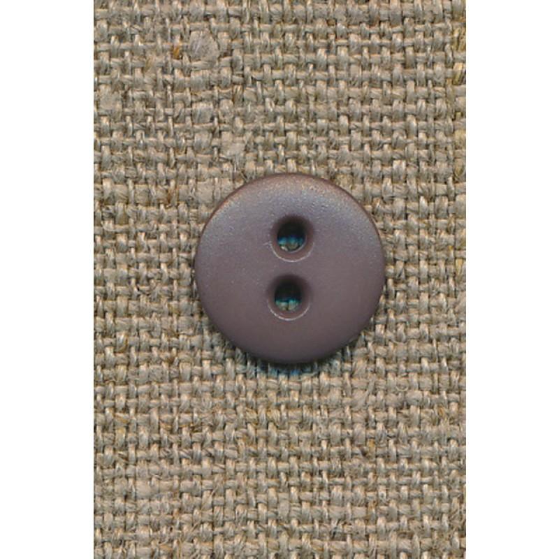 2-huls knap grå-brun 12 mm.-33