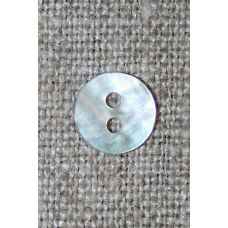 Lille perlemors-knap 9 mm. off-white