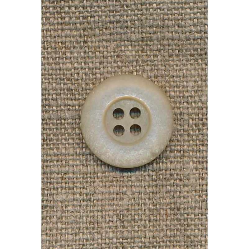 Beige 4-huls knap, 18 mm.-31