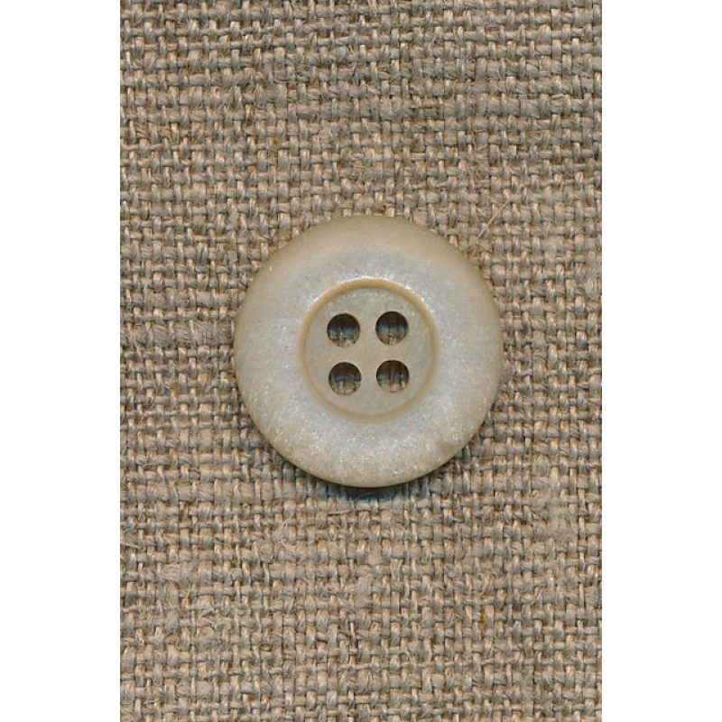 Beige 4-huls knap, 18 mm.